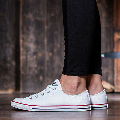 21053123d379 CONVERSE 9 WOMENS Chuck Taylor All Star Dainty Sneakers Black White ...