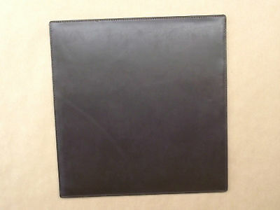 4 x dark brown leather place mats  (style 241)