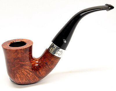 Peterson Sherlock Holmes Original Smooth Finish Silver Mounted Pipe 9mm Filter