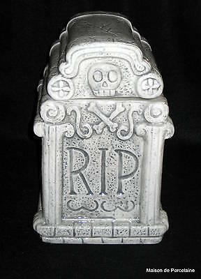 Magenta, Inc Halloween Rip Tombstone Skull Lidded Cookie Jar
