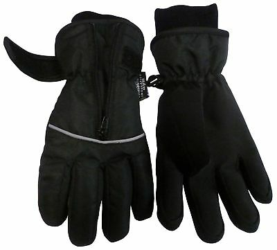 NICE CAPS Kids Boys Girls Thinsulate Waterproof Easy On Zip-Up Winter Ski Gloves