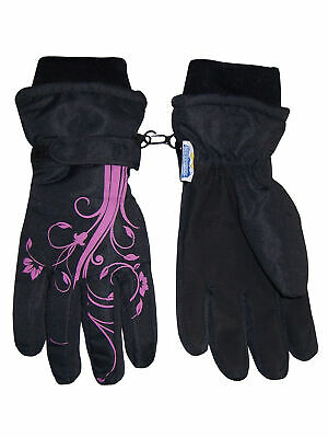 88da9b468 NICE CAPS Girls Kids Youth Waterproof Thinsulate Ski Snow Winter Floral  Gloves