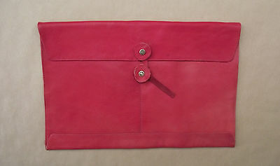 Real Red Leather envelope valise folder  (style 242)