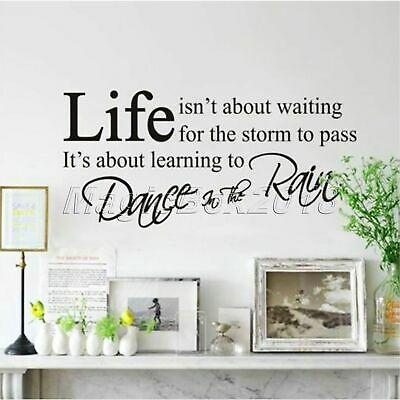 Inspirational Quote Decal Life isn't About Waiting for the storm to pass Sticker