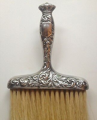 Antique Victorian Sterling Silver  Hallmarked Repousse Vanity/Crumb Brush~PRETTY