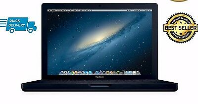 """Apple MacBook 13"""" Core 2 Duo  2.0GHz 4GB 250GB HDD MB404 2008 A1181 BLACK"""