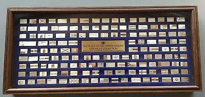 Sterling Silver .925 Franklin Mint Flags of the United Nations 30th Anniversay