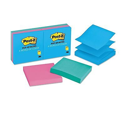 Post-it Pop-up Notes Refill 3 x 3 Three Ultra Colors 100/Pad 6 Pads/Pack