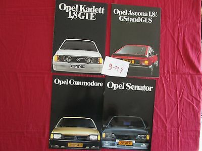 N°9114 / OPEL 4 catalogues 1984 Afrique du sud - south Africa