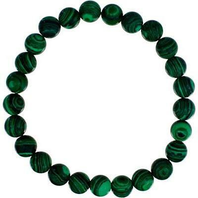 8mm Malachite Bead Bracelet!
