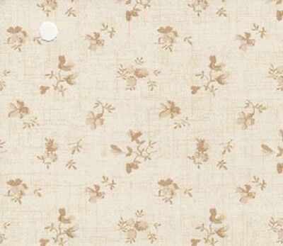 Dollhouse Interior New Creations Wallpaper Sheets NC10304 Beige Flowers NEW