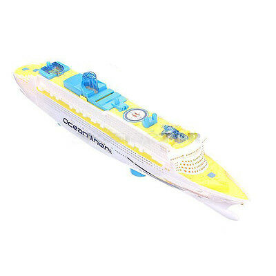 Ocean Liner Cruise Ship Boat Electric Toy Flashing LED lights sounds kids  DW