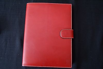 Ferrari Rosso Red Leather Weekly Diary BRAND NEW OEM 270004483