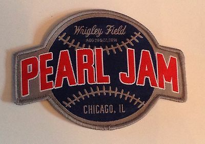 PEARL JAM 2016 Chicago WRIGLEY FIELD Concert Baseball PATCH Cubs