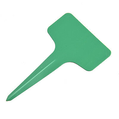 100pcs Plastic Plant T-type Tags Markers Nursery Garden Labels (Green) DW