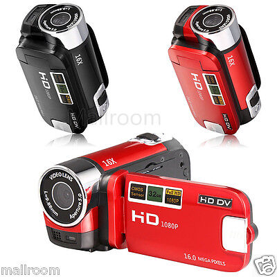 16MP Full HD 1080P Digital Video Camcorder Kamera DV DVR 2.7'' TFT LCD 16X Zoom