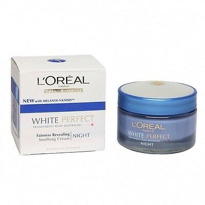 L'oreal Paris White Perfect Transparent Rosy Whitening Night Cream 50 GM