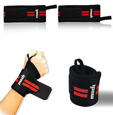(1 pair) Ipow® Adjustable Weight Lifting Training Wrist Straps Support BracesCXX