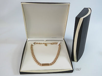 Large Jewellery Gift Presentation Box Case  Ideal For Men's Heavy Identity Chain