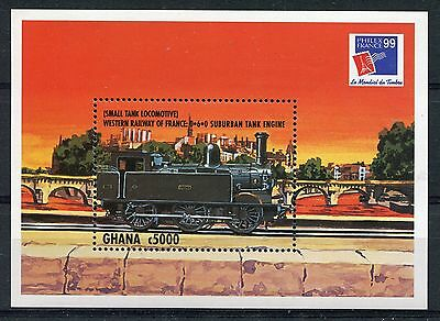 Ghana 1999 Philex France. Railways MS #1 MNH