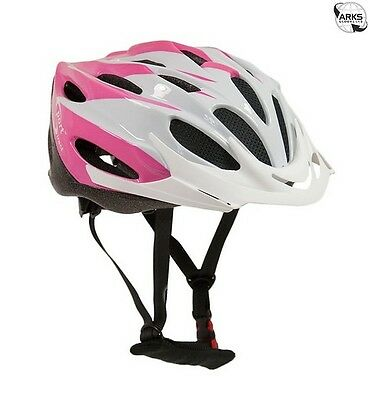 SPORT DIRECT Junior Rosa Junior Pink & White Cycle Helmet 54-56cm - SH206