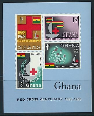 Ghana 1963 Red Cross MS MNH