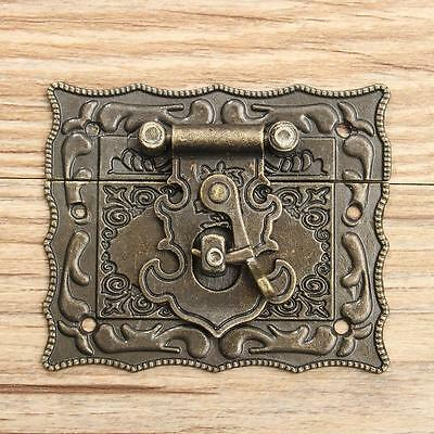 1/2/4X Retro Vintage Latch Catch Wooden Jewelry Boxes Case Hasp Pad Chest Lock