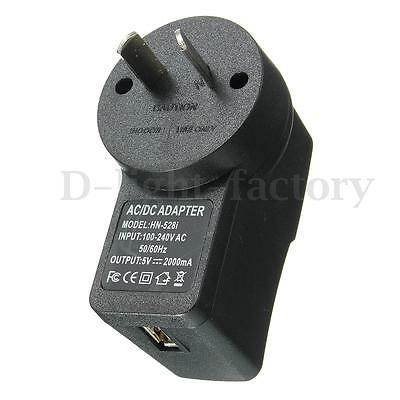 DC 5V 2A 2000mA AU Plug USB Power Supply Adapter Charger For Android Tablet PC