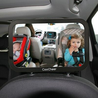 Adjustable Baby Mirror Back Car Seat Cover for Infant Child Toddler Rear Ward