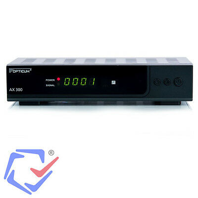 PVR HDTV-Satelliten-Receiver Opticum HD AX 300 Digital Sat TV USB HDMI DC 12V