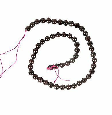 String of Garnet 8mm Beads for Jewellery Making (T5S)