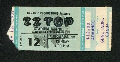 1981 ZZ Top Loverboy Concert Ticket Stub Albequerque NM El Loco Motion Tour