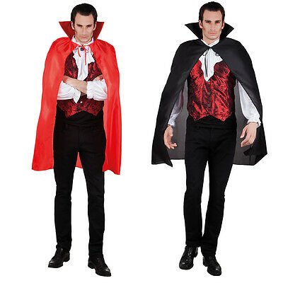 VAMPIRE HIGH COLLAR CAPE | MENS Size | Halloween Fancy Dress Costume Accessory