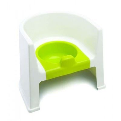 The Neat Nursery Toddler Training Steady Potty Chair (White/Lime)
