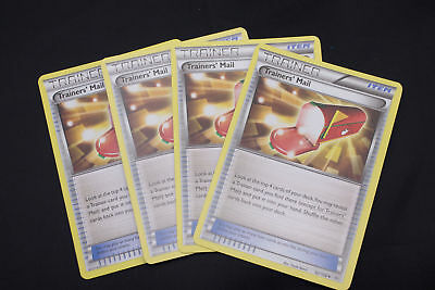 4x TRAINERS MAIL 92/108 Pokemon TCG : XY Roaring Skies Trainer - PLAYSET of 4