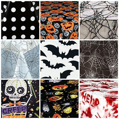 Halloween Table Cover Party Table Cloths Tableware Plastic Lace Decoration