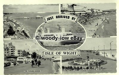 h0949 - Hovercraft SRN 2 -Just Arrived At The Isle of Wight - Multiview postcard