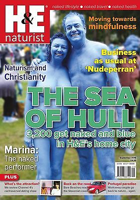 H&E naturist September 2016 magazine nudist health efficiency