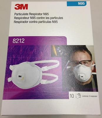 (10 Pair Box) 3M Particulate Respirator N95 8212 (NEW)