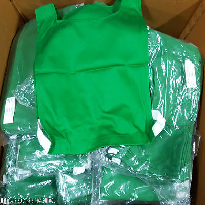 Football Netball Training Bib - Green - New with Free P&P 100% Cotton