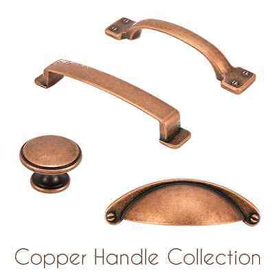 HILBRI Copper Kitchen & Bedroom Cabinet Cup Pull & Knob Handle Collection