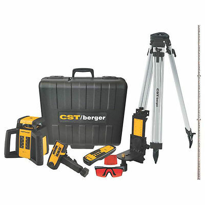 """CST Self-Leveling Rotary Laser Level Kit, 3/32"""" at 100 ft, 2000 ft, D-Cell Batte"""