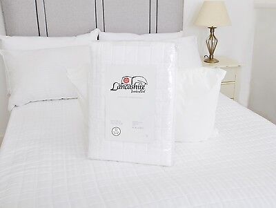 Luxury Quilted 100% Cotton Mattress Protector 300TC 250GSM Single Double King