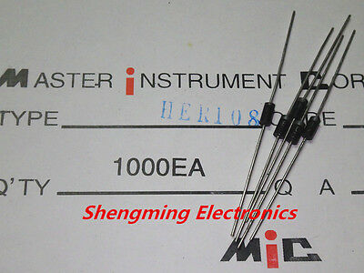 100PCS HER108 1A 1000V Rectifier Diode