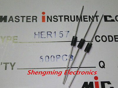 20PCS HER157 1.5A 800V DO-15 High efficiency rectifier diode
