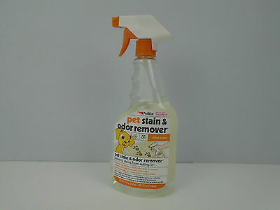 Petkin Pet Stain & Odour Remover Spray helps remove Dog Cat Stains & Smells