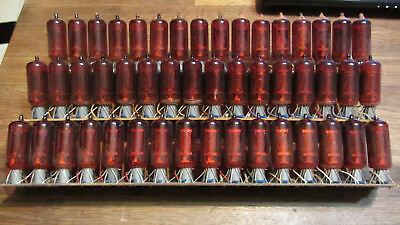 Z574M lot from 16 red NIXIE TUBE RFT/WF TESTED 100%  GOOD CONDITION