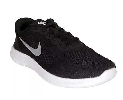 f0288dfe6ceca NIKE FREE RN (PSV) Black Metallic Silver White Youth Kids 833991 001 ...