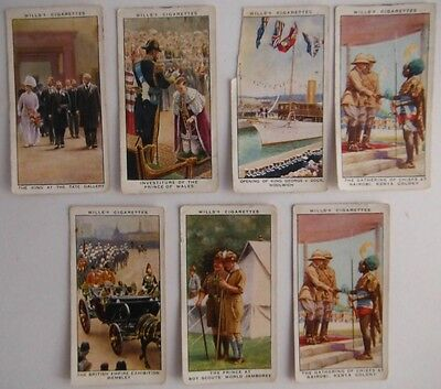 (7) Reign Of King George V Wills Tobacco Cards