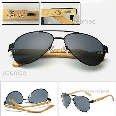 Personalized Engraving Bamboo Wood Aviator Classic Sunglasses Groomsmen Gift